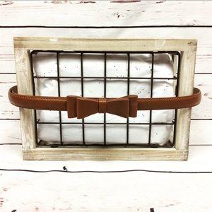 [Target] Cognac Bow Belt